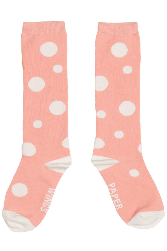 Paper Wings Socks Pink Spots