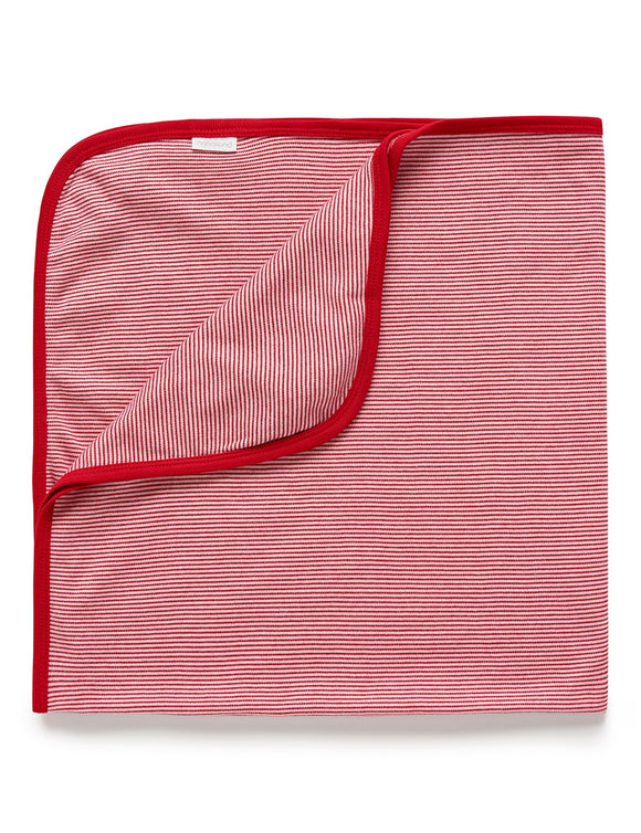 Purebaby Bunny Rug / Red Stripe