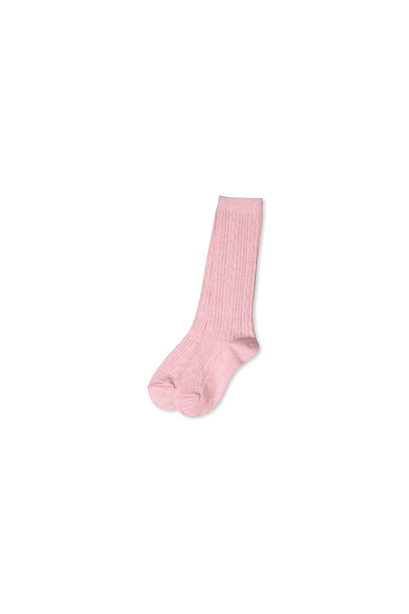 Milky Knee High Sock Pink Marle