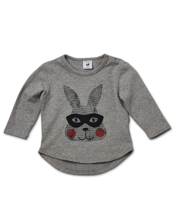 Walnut Leo Long Sleeve Super Bunny Top****Now 50% Off