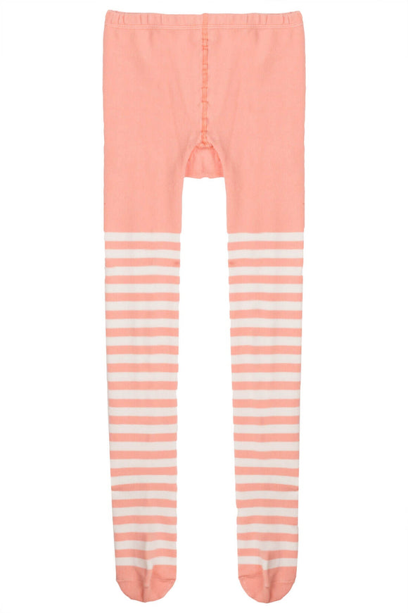Paper Wings Tights Peach Stripe