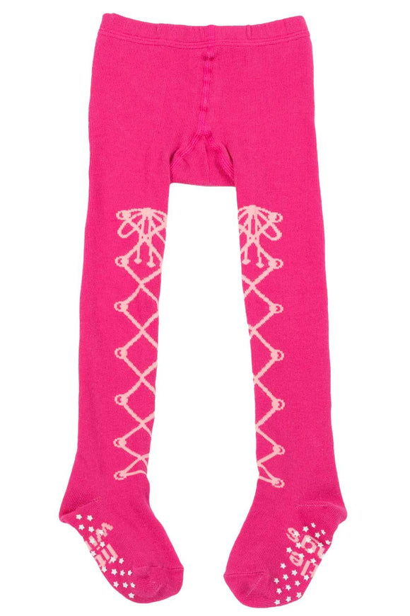 Little Wings  Laced Up Tights Pink