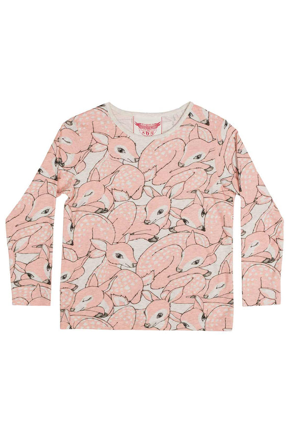 Paper Wings Classic T shirt Pink Fawns