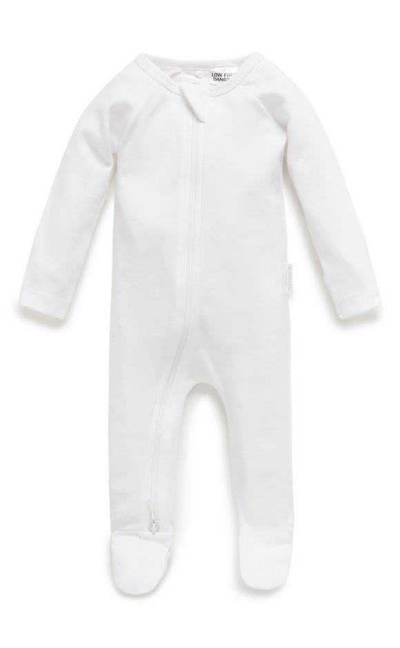 Purebaby Premi Growsuit / White