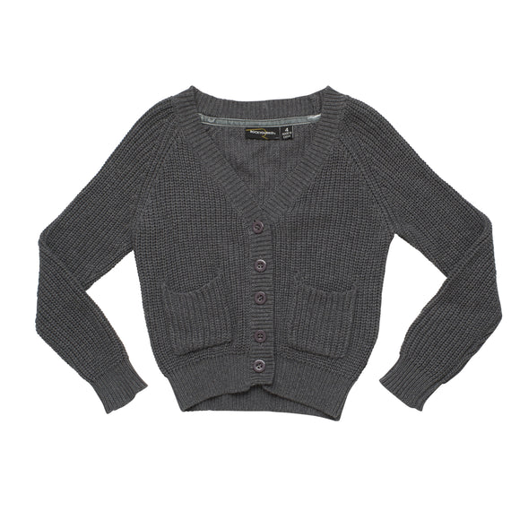 Rock Your Baby Slouch Cardigan - Dark Grey ***NOW 30% OFF***