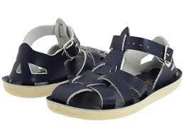 Saltwater Sandals Navy Sharks