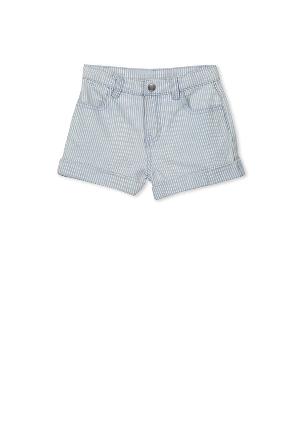 Milky Stripe Short Light Denim*** NOW 50% OFF