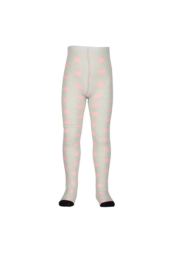 Milky Jacquard Tight Grey Marle/Pink