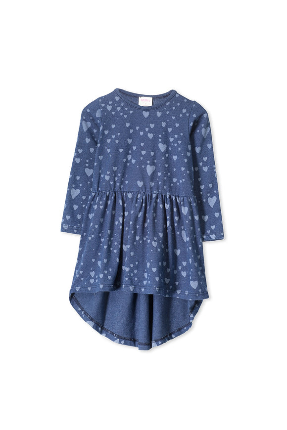Milky Denim knit Heart Dress
