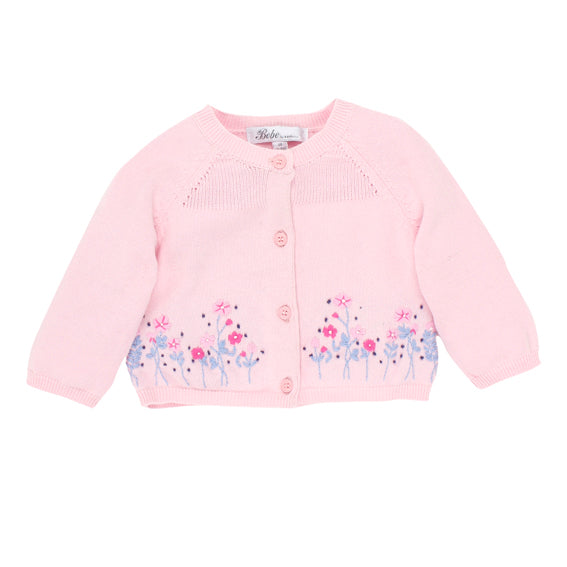 Bebe Eloise Cardigan With Emb/Pale Pink