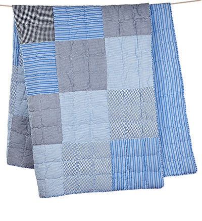 Toshi Denim Patch Cot Quilt