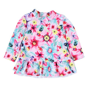 Bebe Lucy Floral L/S Bk Zip Rashie *** NOW 50% OFF