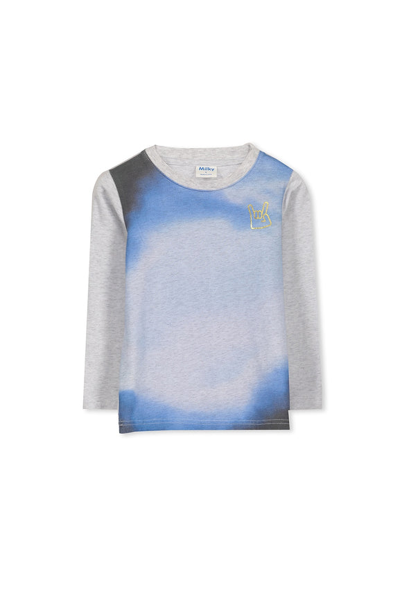 Milky Marble Tee - Silver Marle