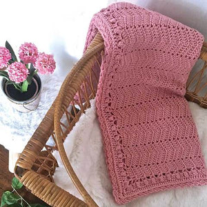 OB Designs Ripple Blanket / Pink