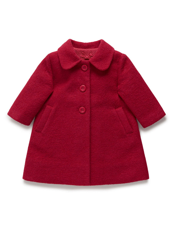 Purebaby A line Princess Coat Regal Melange
