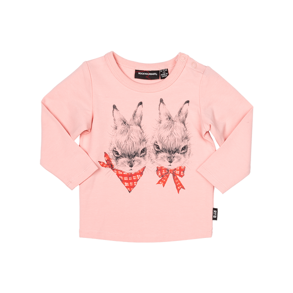 Rock Your Baby Outlaw Bunny L/S Tee-Baby