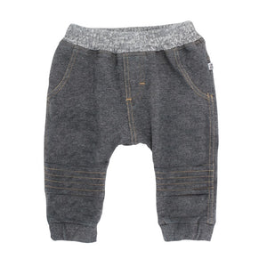 Bebe French Terry Pant Charcoal