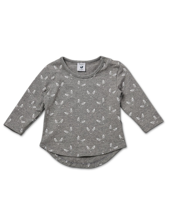 Walnut Baby Grey Long Sleeve Top