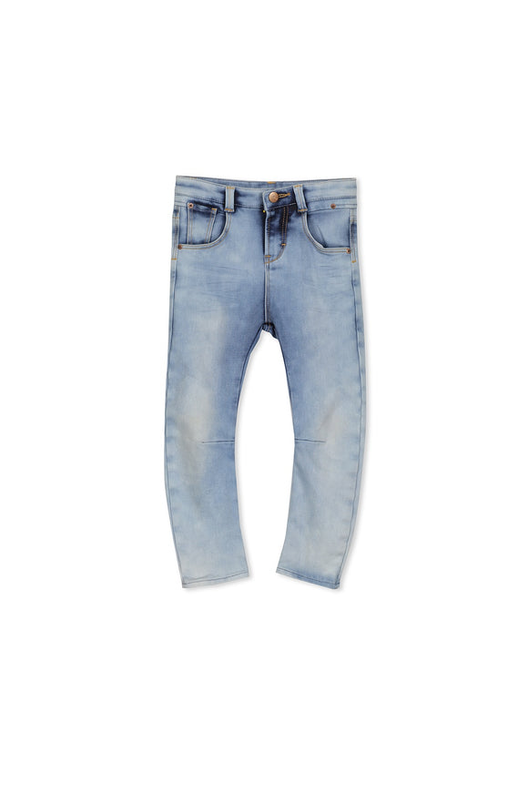 Milky Washed knit Denim Jeans