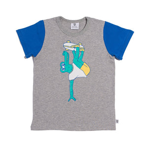 Hootkid Skater Croc Tee Grey Marle*** NOW 50% Off