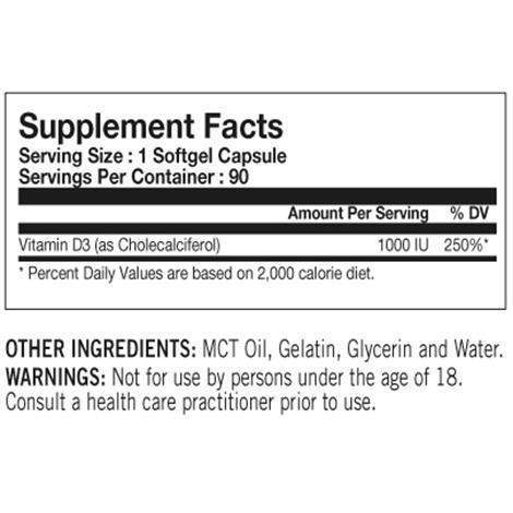 Tested Nutrition Tested Vitamin D - Protein Superstore