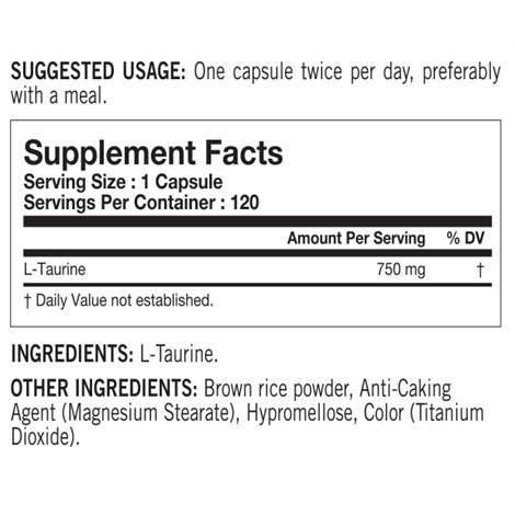 Tested Nutrition Tested Taurine - Protein Superstore