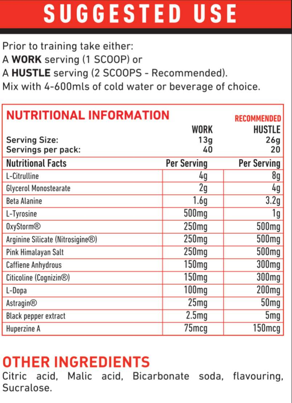 TWP Nutrition Hustle Pre-Workout - Protein Superstore