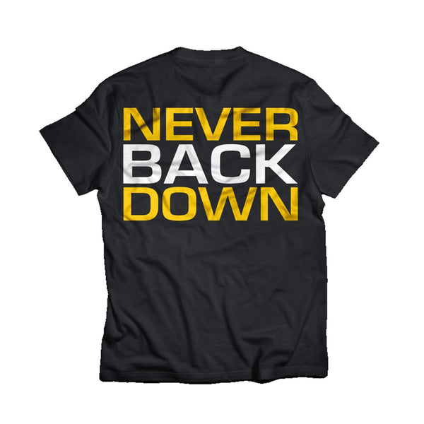 Dedicated Never Back Down T-Shirt - Protein Superstore
