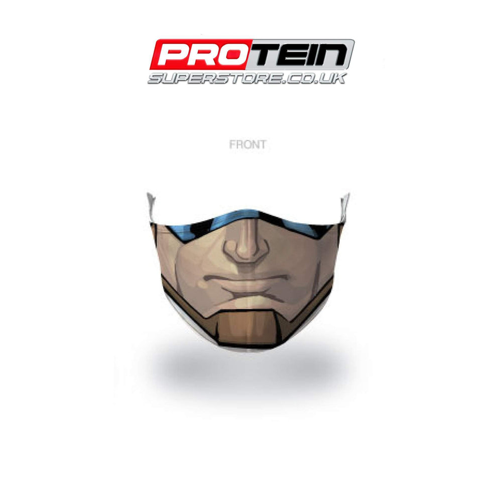 Captain America Face Shield Antibacterial ZnO coating - PM0.3 Filtration - Liquid Repellent