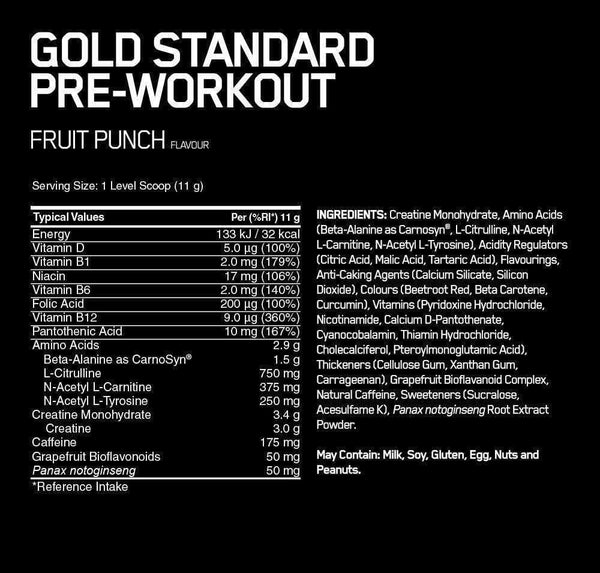 Optimum Nutrition Gold Standard Pre Workout - Protein Superstore