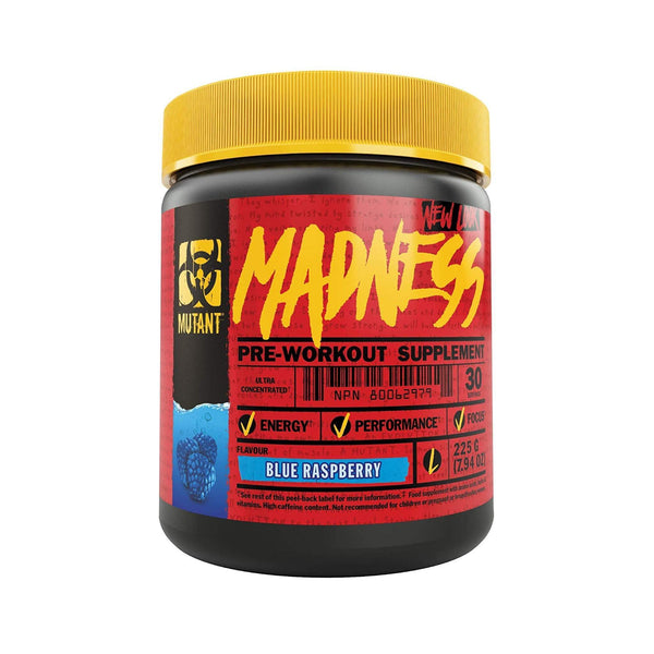 Mutant Madness Blue Raspberry / 30 Servings Pre-Workout