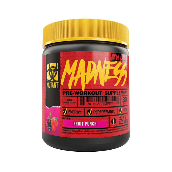 Mutant Madness Fruit Punch / 30 Servings Pre-Workout