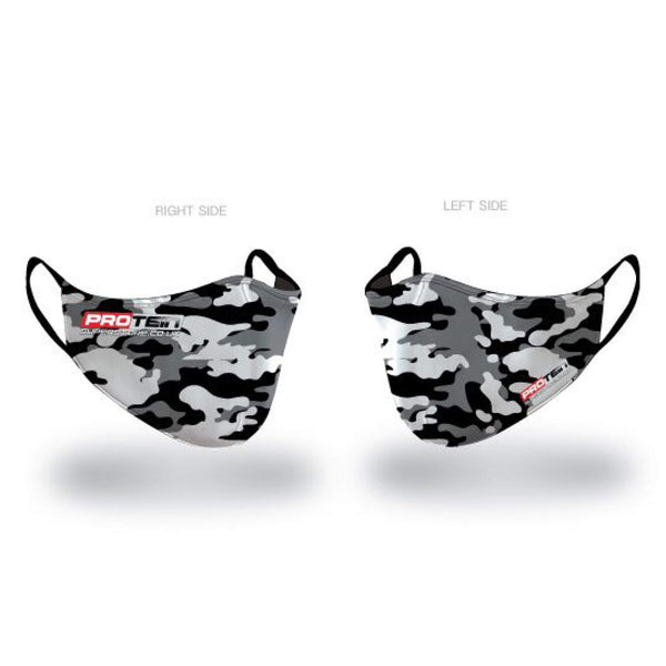 Camo Face Shield Antibacterial ZnO coating - PM0.3 Filtration - Liquid Repellent