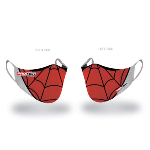 Spiderman Face Shield Antibacterial ZnO coating - PM0.3 Filtration - Liquid Repellent