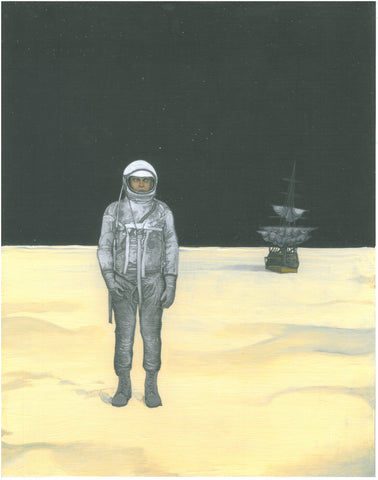NEW! Charles Smith 'Man on Moon' Print