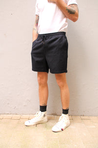 Huntelaar shorts | Navy Stripe