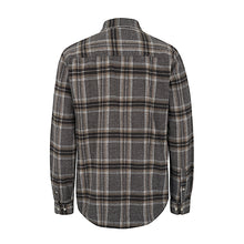 Danny L/S shirt | Dark Brown / Grey