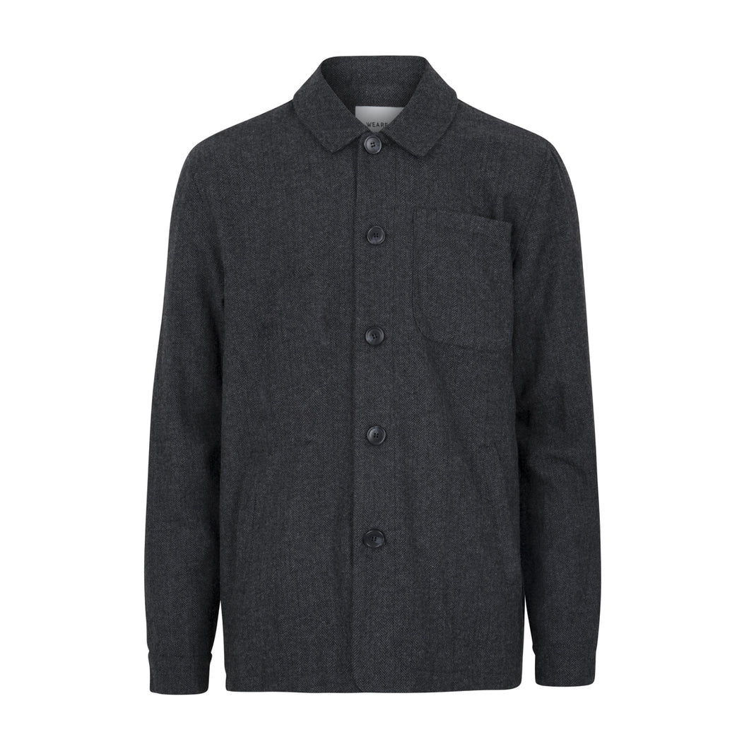 Pochettino Wool Overshirt | Grey Melange