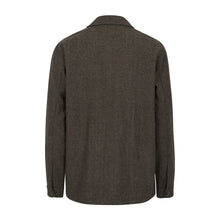 Pochettino Wool Overshirt | Brown Melange