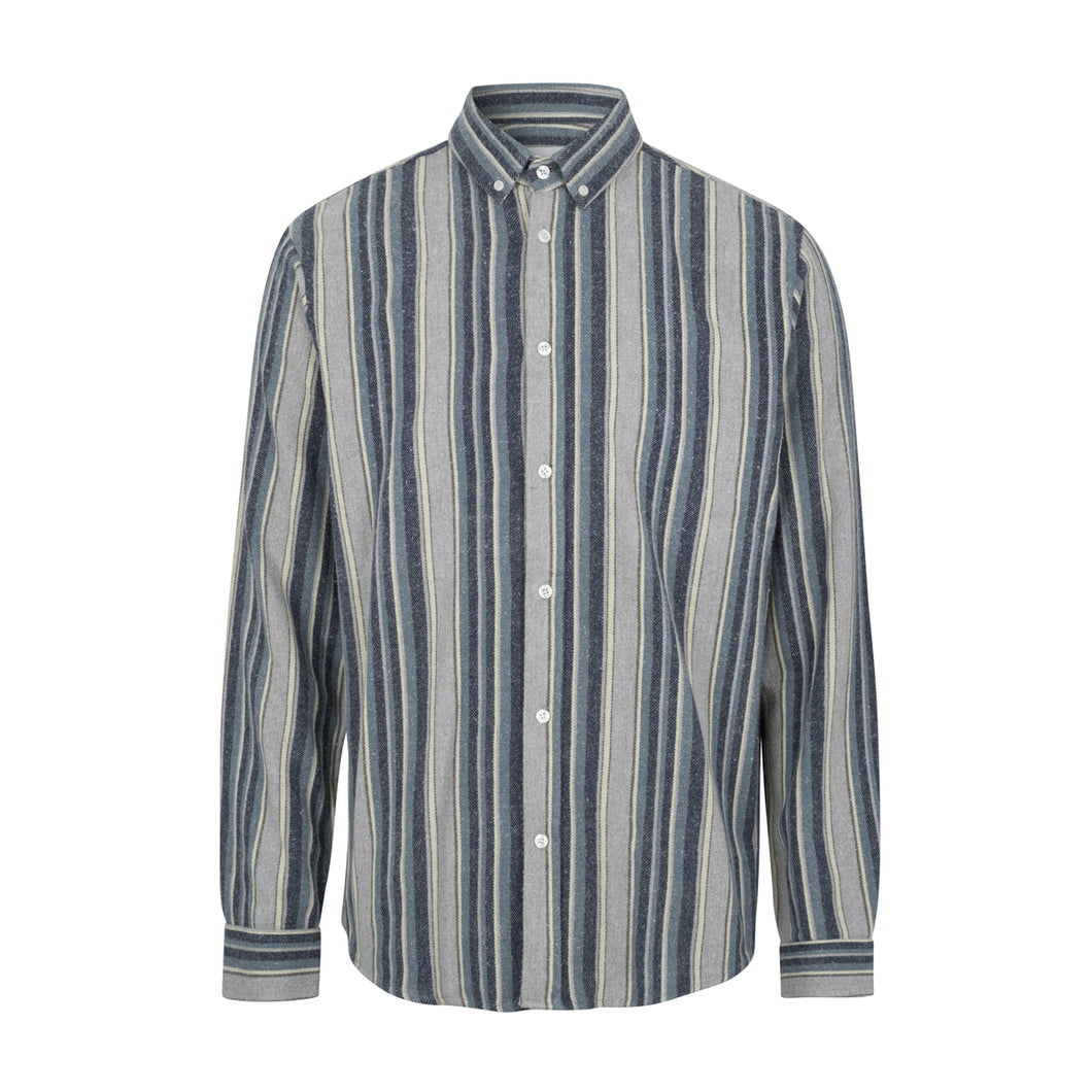 Vertonghen LS Shirt / Steel Blue Stripe