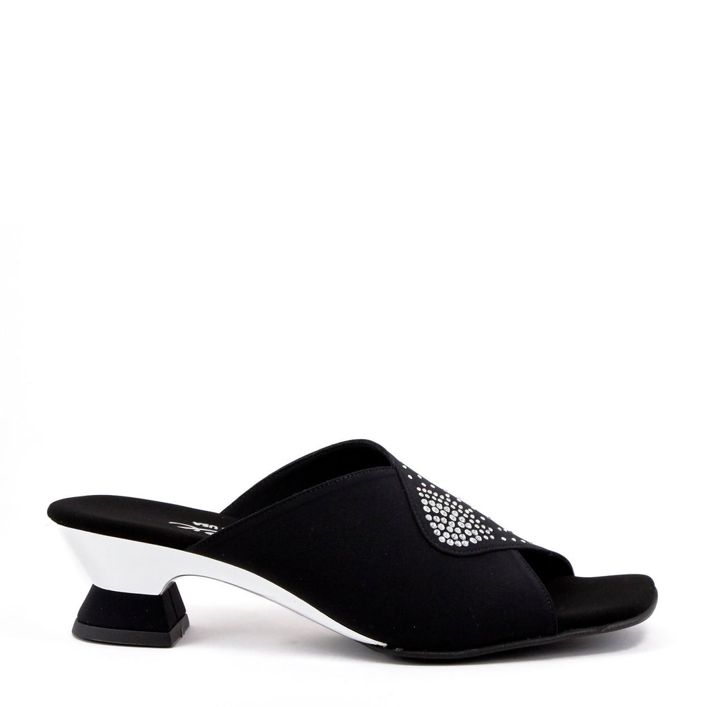 black low heel sandal by Onex Shoes