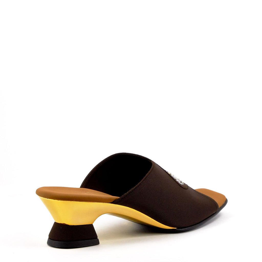 Brown Low Heel Evening Sandals By Onex Shoes