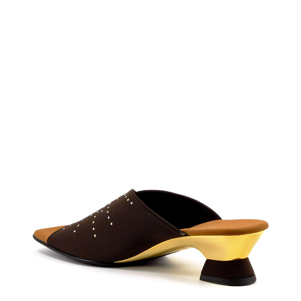 Brown Low Heel Sandals By Onex Shoes