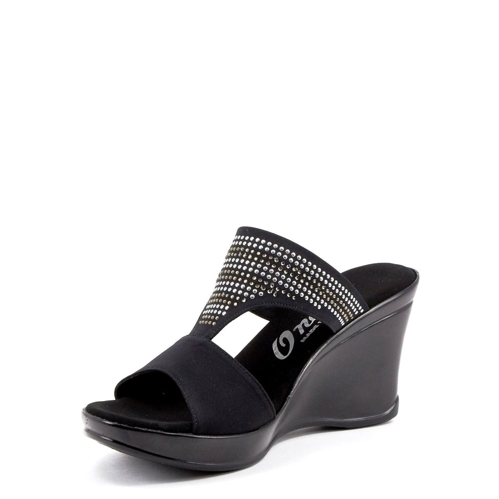 Black Dress Wedges By Onex Shoes
