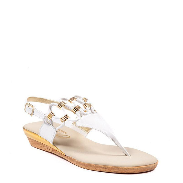 Holly Onex Sandal in White By Onex Shoes