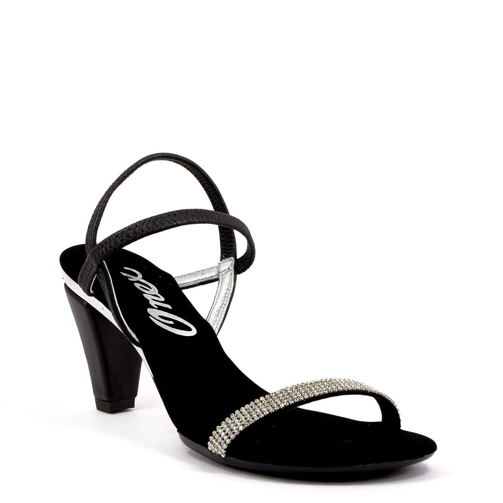 43f083127 Black Strappy Sandals By Iced Black Silver – Onex Shoes