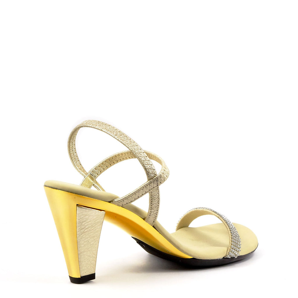 Gold Strappy Evening Heel By Onex Shoes