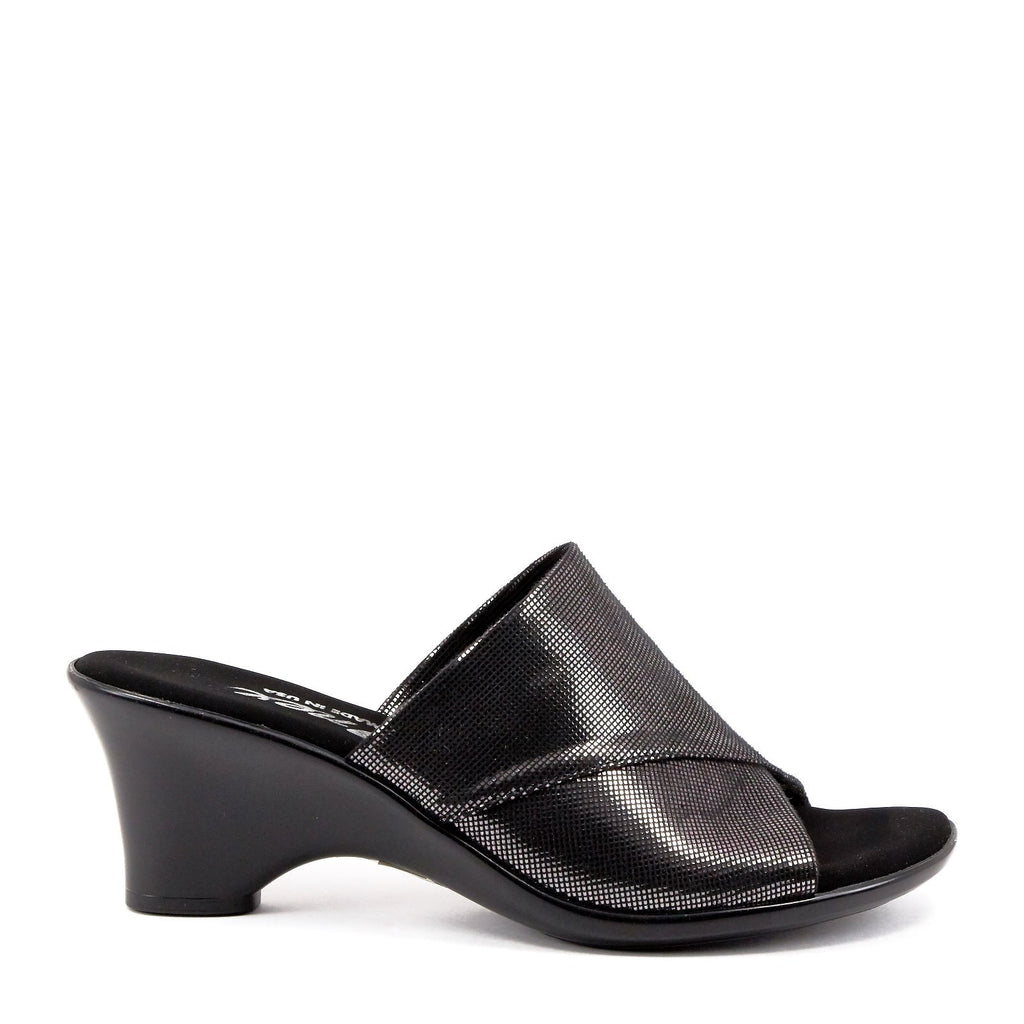 99c17f55f1 Black Low Heel Wedge By Norah Black Silver – Onex Shoes
