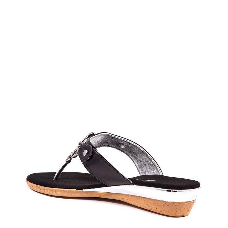 Raindrop Onex Sandal In Black By Onex Shoes
