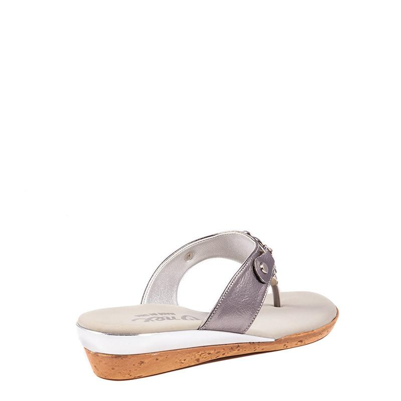 Raindrop Onex Sandal In Pewter By Onex Shoes